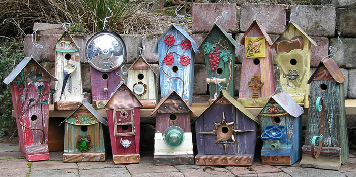 Therapy Garden Birdhouses